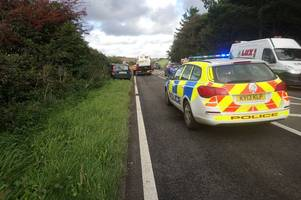 Two vans and one car involved in crash on A30 near Zelah