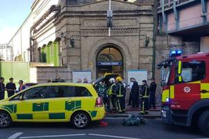 explosion on the tube in london in terror attack - report that 20 have been injured