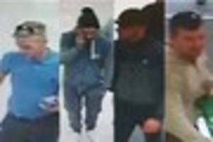 police on the hunt for four men after machete-wielding incident...