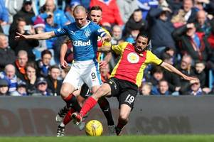 partick thistle vs rangers team news ahead of the premiership clash at firhill