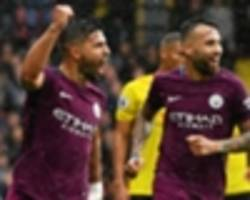 aguero rampant as man city hammer watford