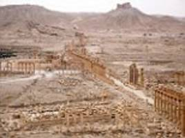 what remains of the once-magnificent city of palmyra