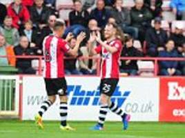 league two roundup: exeter beat crewe for 6th straight win