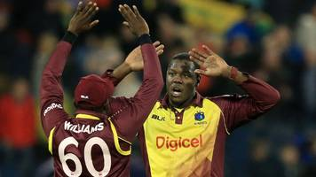 england v west indies: hosts crumble to lose twenty20 at chester-le-street