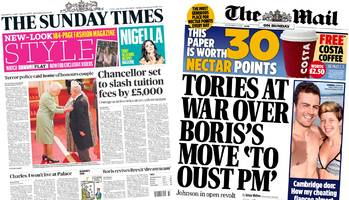 Newspaper headlines: Parsons Green latest and Tories 'at war'