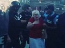 St. Louis police walk over woman in Stockley protests