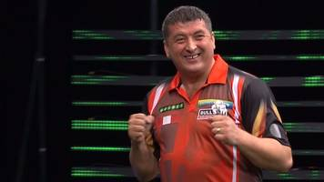 Darts Champions League: Gary Anderson 'brutalised' by debutant Mensur Suljovic