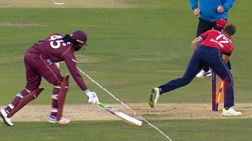 England v West Indies: Chris Gayle run out after rapid 40 runs