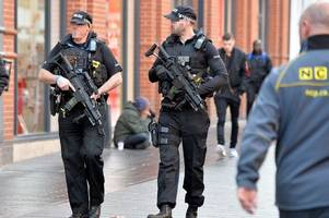 more armed police on streets of leicestershire after terror threat in uk increased to 'critical'