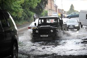 met office severe weather warning: heavy rain and thunder expected to hit south west england