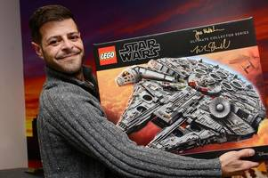 Grimsby man had the Force with him to get his rare prize Lego Millennium Falcon