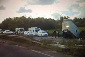 M5 horror crash: At least four people dead after crash between J14 and J15 involving several vehicles including lorry