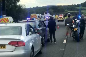 M5 horror crash: Woman and two children in life-threatening condition and four people dead