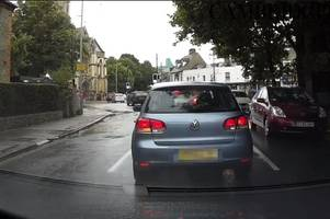watch cambridge car driver ruin this man's day