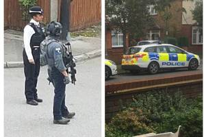 armed counter-terror cops swoop on surrey house in wake of parsons green tube attack