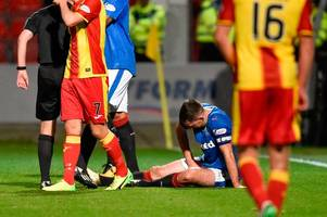 rangers skipper lee wallace in race to be fit for celtic clash after hobbling off against partick thistle