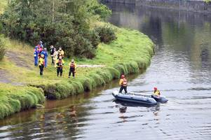 River search underway after empty canoe seen floating upside down