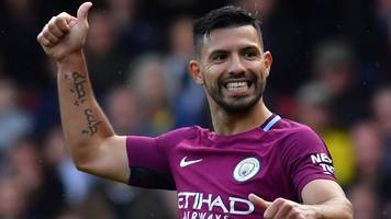 sergio aguero: manchester city striker is a 'legend' - pep guardiola