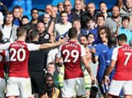 Chelsea 0-0 Arsenal: David Luiz sees red in  London derby