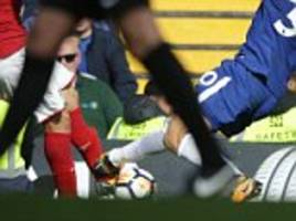 David Luiz should have been sent off twice against Arsenal