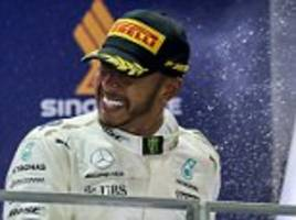 Lewis Hamilton's closing in on fourth F1 world title