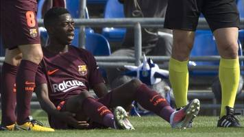 Ousmane Dembele: Barcelona forward faces four month injury lay-off