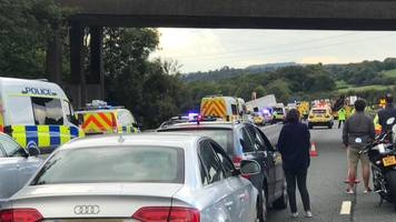 M5 reopens following four deaths in lorry crash