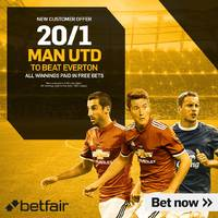man united v everton: 20/1 enhanced odds, prediction and betting tips