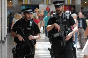 police update on terror threat level as armed officers deployed across bristol