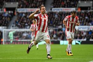 Newcastle half-time compere pulls out swimming trunks for dig at 'diving' Xherdan Shaqiri