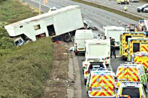 M5 crash: Woman and two children in 'stable' condition after life-threatening injuries as police 'keep open mind' about criminal investigation