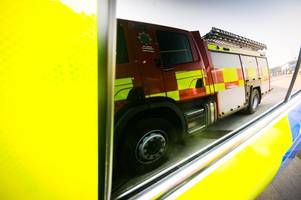 Two injured and one man arrested after crash