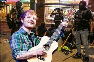 Ed Sheeran cancels gig in St Louis over race riot fears