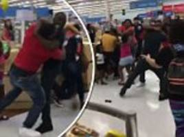 couples get in massive brawl in new jersey walmart