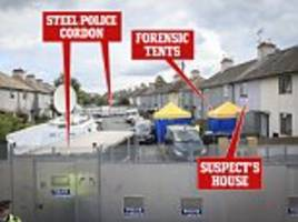 inside the ring of steel around tube bomb suspect's home