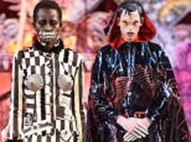 Models in nightmare outfits for London Fashion Week