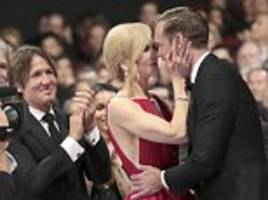 Nicole Kidman kisses her co-star in front of her husband