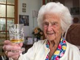 pensioner turns 111 and says whisky has kept her young