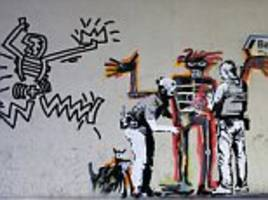 two new banksy murals appear near the barbican
