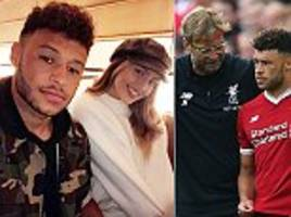 Alex Oxlade-Chamberlain takes snap with Little Mix partner