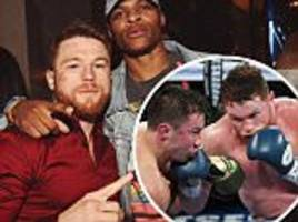 Canelo Alvarez hangs out with NBA star Russell Westbrook
