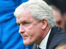 hughes to name strong stoke line-up against bristol city