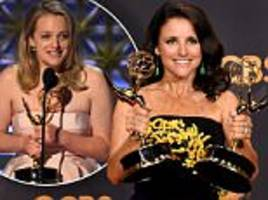emmys 2017: julia louis-dreyfus and handmaid's tale win