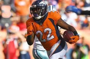 Denver Broncos running back C.J. Anderson runs all over the Cowboys, scoring two touchdowns