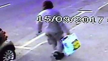 parsons green tube bombing: cctv shows suspect with lidl bag