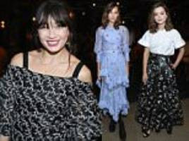 daisy lowe and jenna coleman lead the stars at lfw's erdem