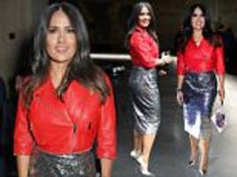 salma hayek displays her hourglass figure in london