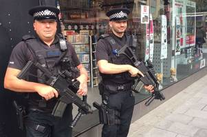 armed police to remain on bristol streets despite terror threat level being dropped to severe