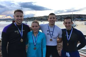 torbay police channel 'baywatch' as they grapple with gruelling raft race