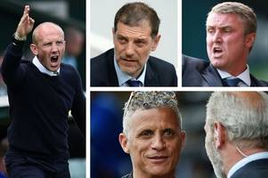 sack race: pressure cranks up on west ham's bilic as keith curle goes crazy at carlisle